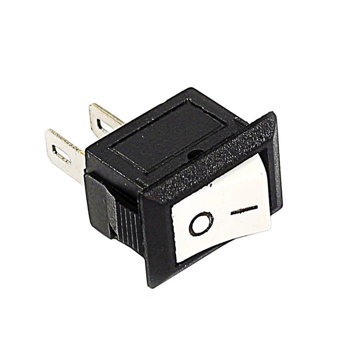 Выключатель клавишный REXANT RWB-101, 250 В, 3А (2с), ON-OFF, Micro, белый