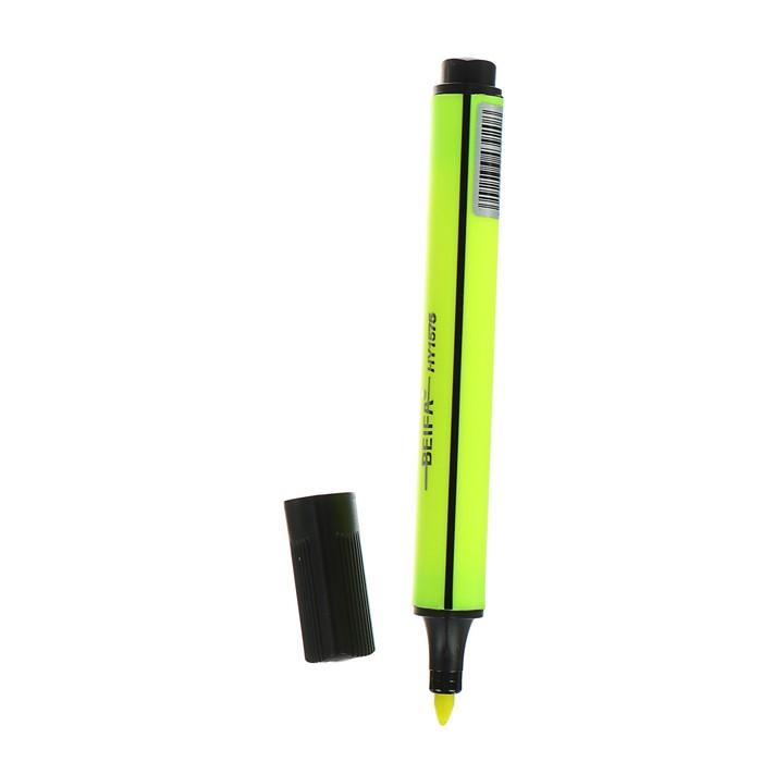Маркер-текстовыделитель 1-5 мм Beifa, трёхгранный, жёлтый