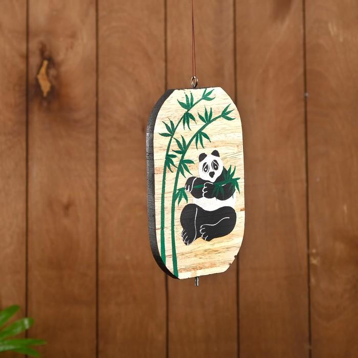 """Сувенир подвесной """"Панда"""" дерево 12х13х15 см"""