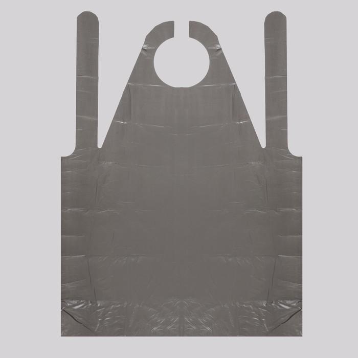 Фартук для мастера, 80 ? 120 см, фасовка 50 шт, цвет чёрный