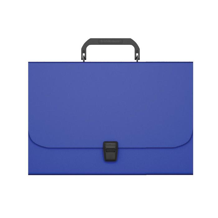 Папка-портфель А4 ErichKrause Matt Classic, синий 50435