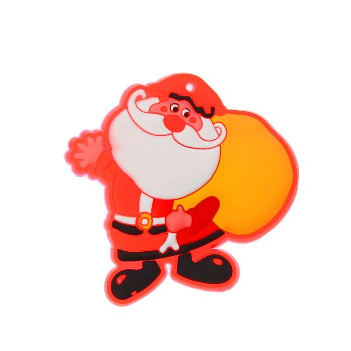 Значок «Дед Мороз с мешком», световой