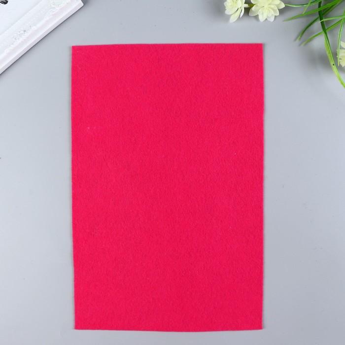 Фетр  мягкий  1 мм 20х30 см   т.розовый микс