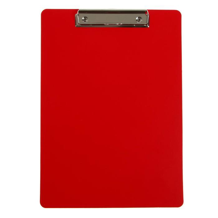 Планшет с зажимом А4, 1000 мкм, Calligrata эконом, пластик, красный (клипборд)