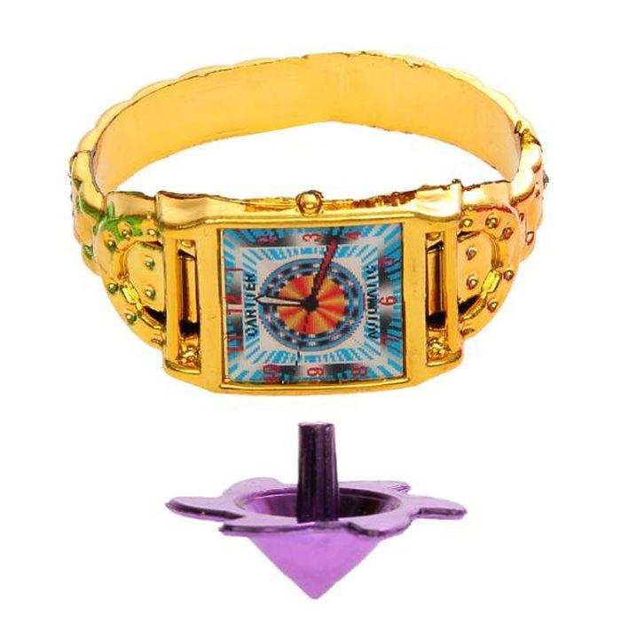 Карнавальный набор «Часики», 2 предмета: браслет, волчок, цвета МИКС