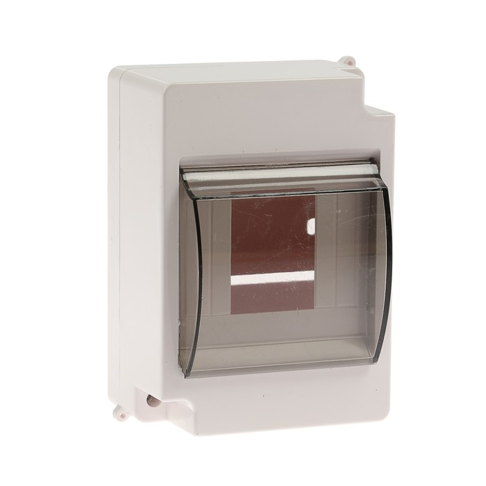 Щит TUNDRA ЩРН-П-4, на 4 модуля, IP30, с крышкой, навесной, пластик, цвет белый