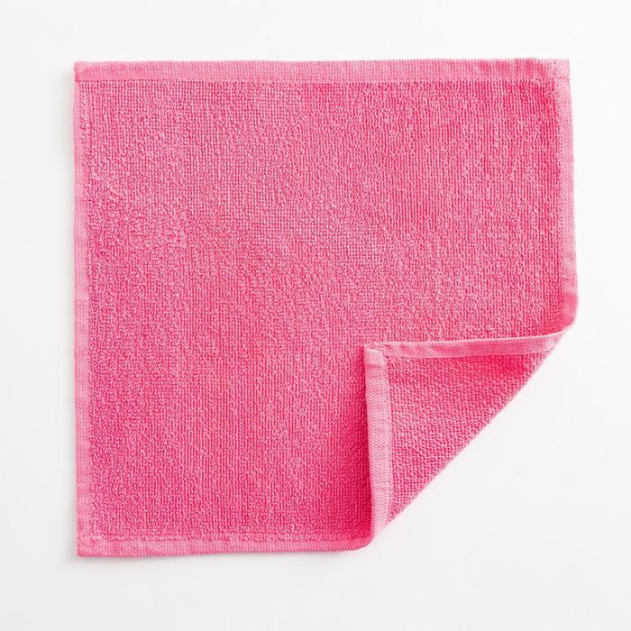 Полотенце махровое Экономь и Я 30х30 см, цв.розовый фламинго,100% хл,260 гр/м2