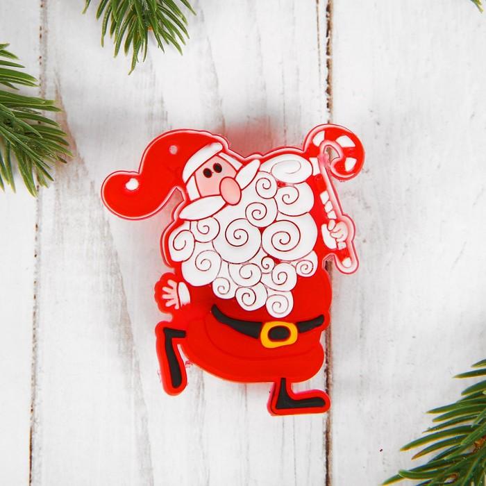 Карнавальный значок «Дед Мороз», световой