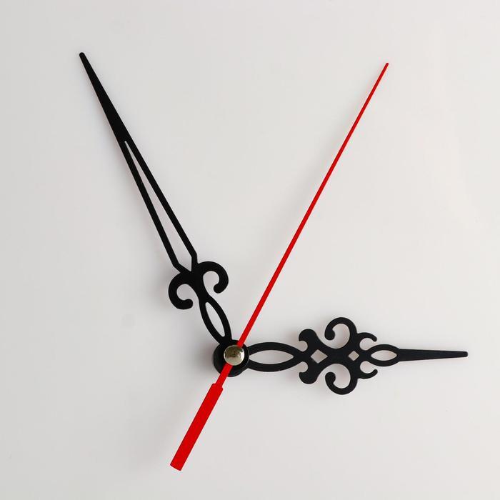 Комплект из 3-х стрелок для часов, черные, резные 69/96 (1046) (фасовка 100 наборов)