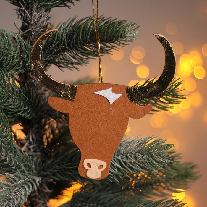 Новогодняя подвеска «Коровка и бык» 0,2х13,5х14 см