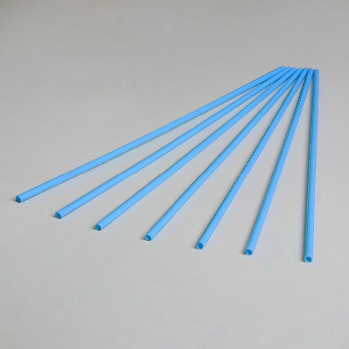 Трубочка для шаров, флагштоков и сахарной ваты, 41 см, d=6 мм, цвет синий