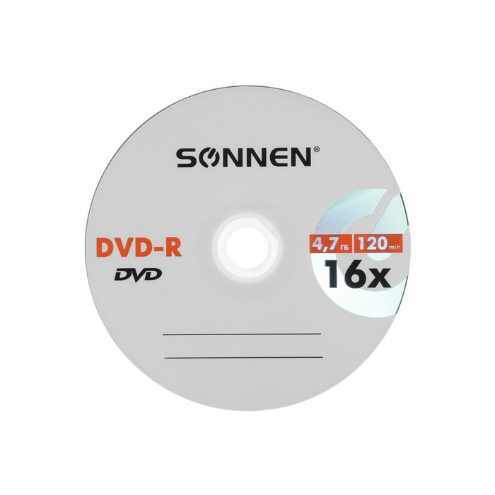 Диск DVD-R SONNEN, 16x, 4.7 Гб, конверт, 1 шт