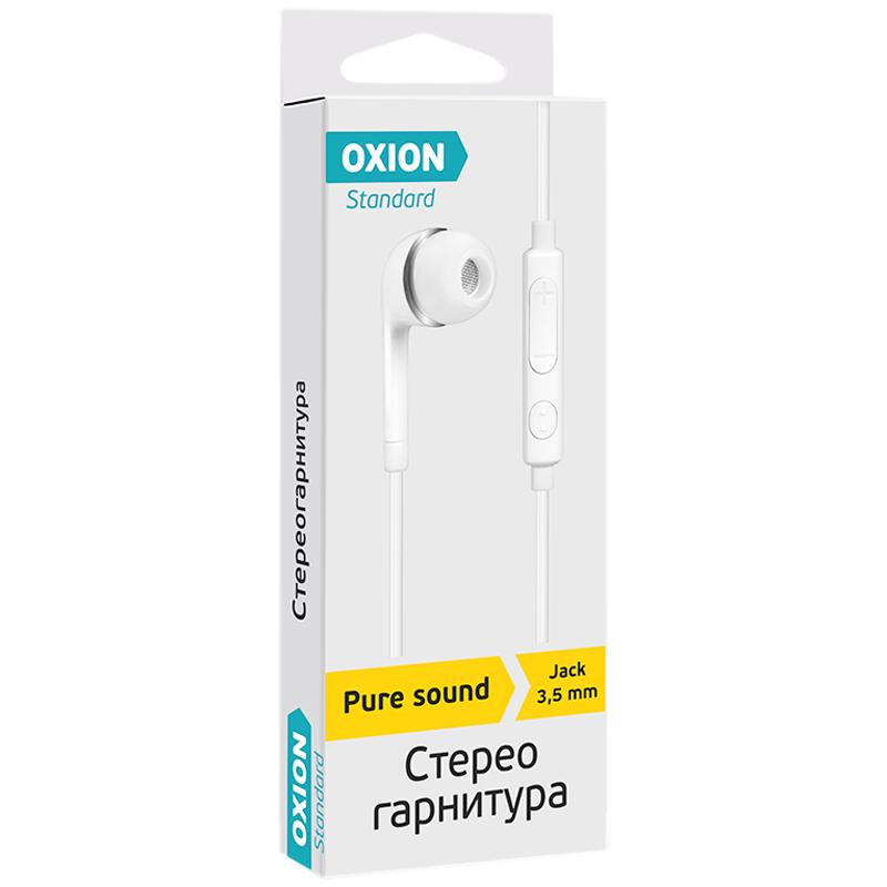 """Наушники-вкладыши с микрофоном Oxion Standard """"HS230WH"""", 1м, белый"""