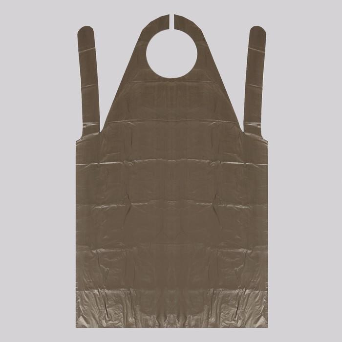 Фартук для мастера, 80 ? 140 см, фасовка 10 шт, цвет чёрный