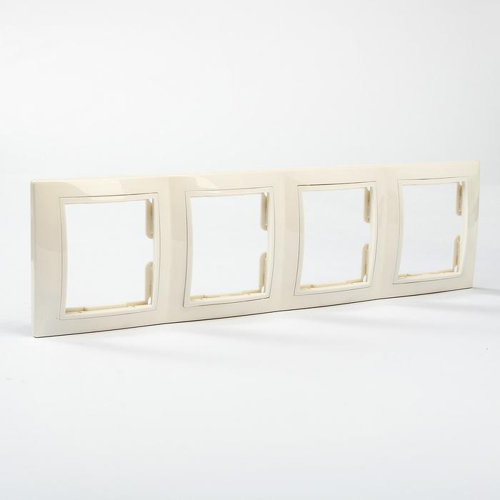"Рамка 4-х постовая вертикальная белая ""Таймыр"" TDM"