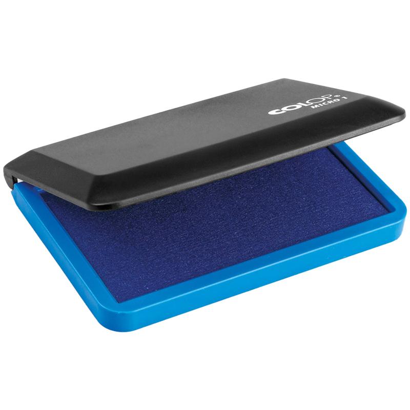 Штемпельная подушка Colop Micro 1, 90*50мм, синяя, пластиковая