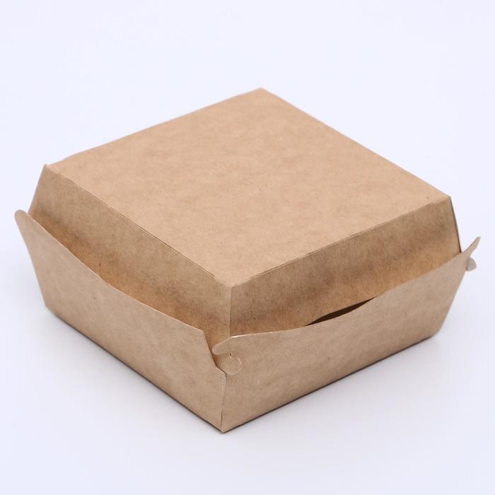 Упаковка для бургеров, 10 х 10 х 6 см