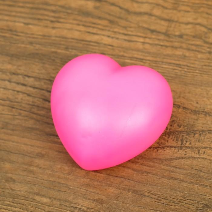 """Ночник пластик """"Сердце"""" 1Вт RGB МИКС 3х6х6,5 см."""