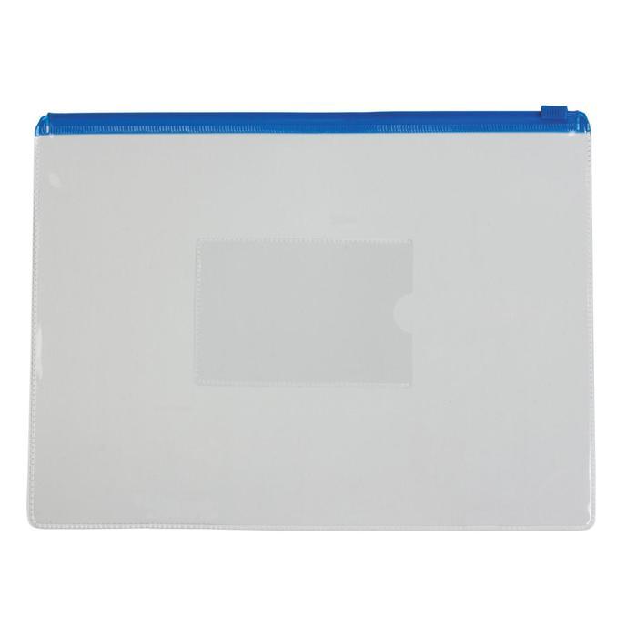 Папка-конверт на молнии ZIP А5 150мкм Calligrata синяя молния