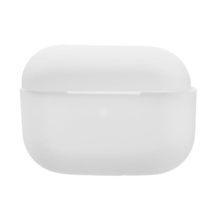 Чехол LuazON для футляра AirPods Pro, силиконовый, белый