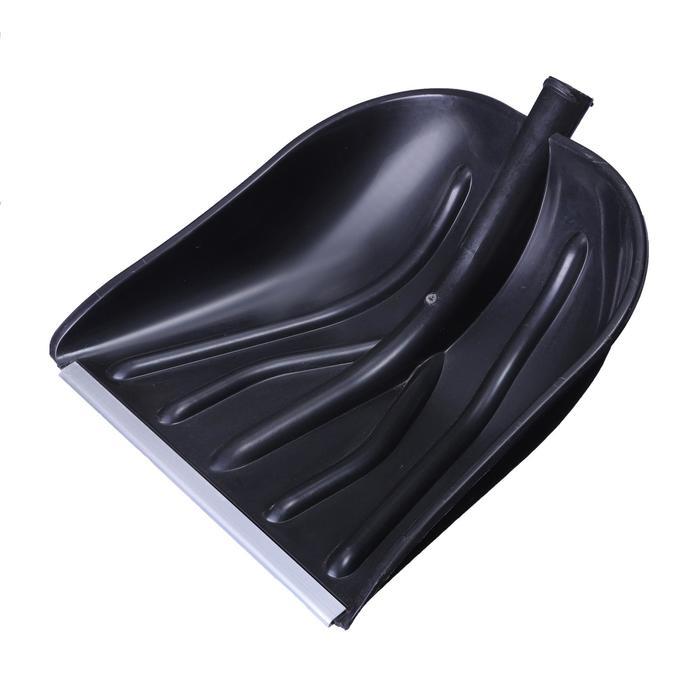 Ковш лопаты пластиковый, 410 ? 460 мм, с алюминиевой планкой, тулейка 32 мм, «Купец»
