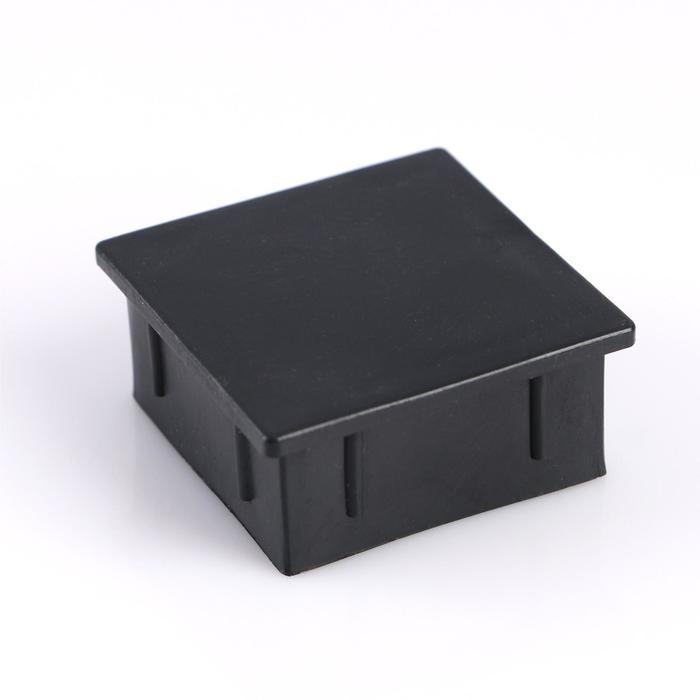 Заглушка внутренняя 50х50 мм, универсальная, черная