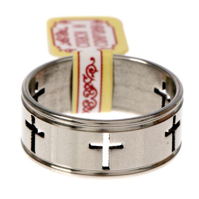 """Кольцо """"Кресты"""", размер 18"""