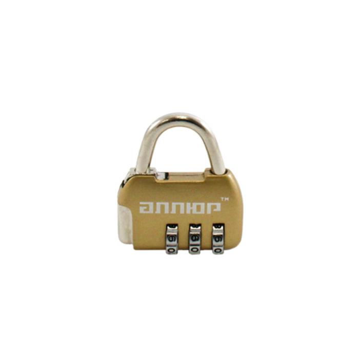 "Замок навесной ""АЛЛЮР"" ВС1К-35/4 (HA806) GP, кодовый, d=4 мм, цвет золото"