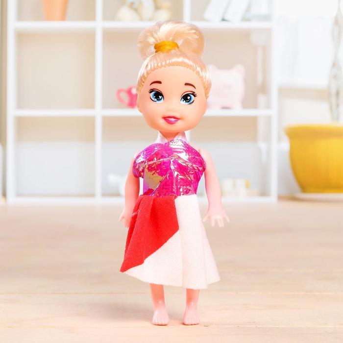 Кукла малышка «Ксюша» в платье, МИКС