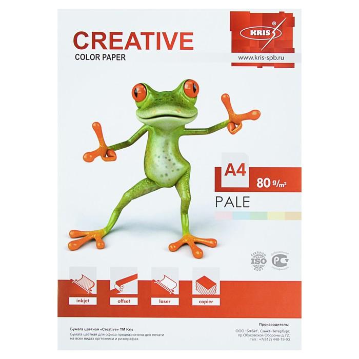 Бумага цветная А4, 50 листов «Креатив» Пастель, 5 цветов, 80 г/м?