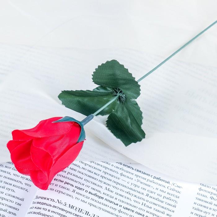 """Цветы искусственные """"Роза"""" 23 см, красная"""