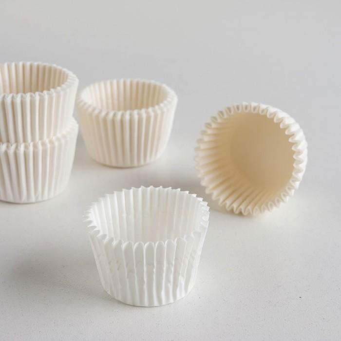 Форма для выпечки белая, 3 х 2,4 см