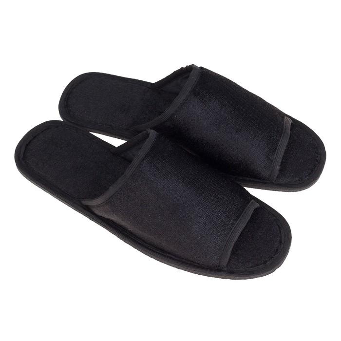Тапочки мужские, цвет чёрный, размер 44-45