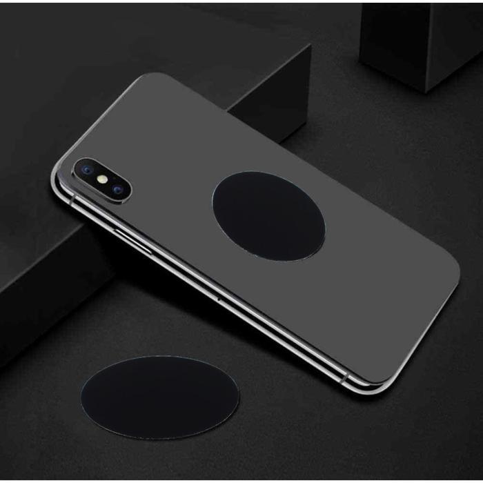 Пластина для магнитных держателей, диаметр 3 см, самоклеящаяся, черная
