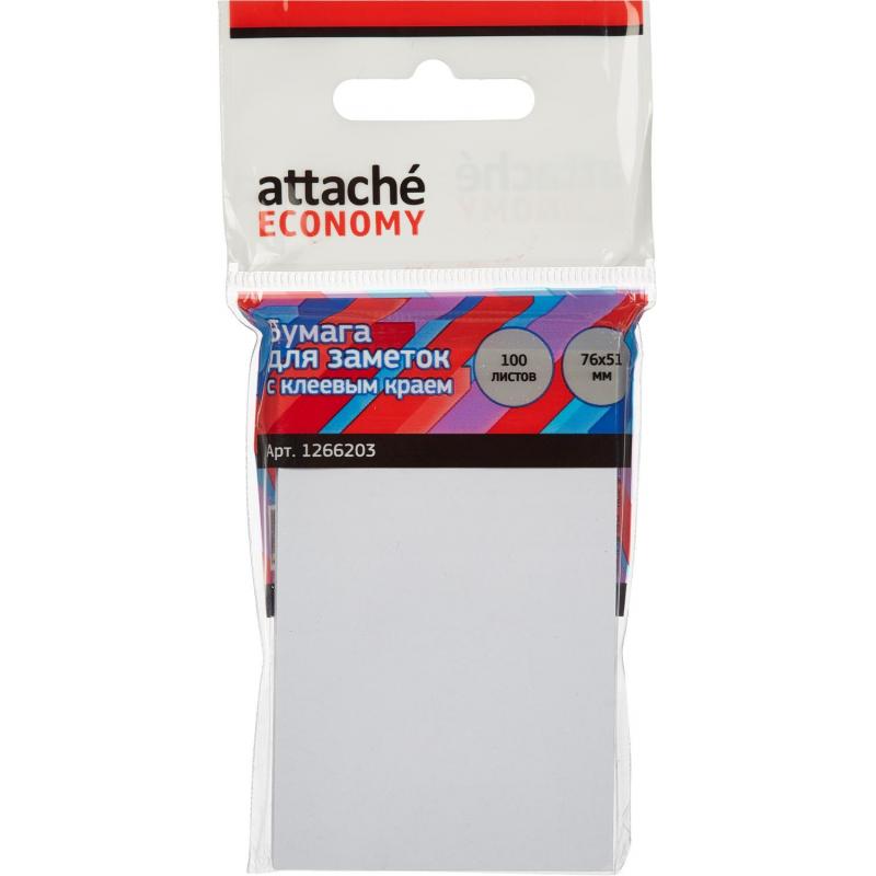 Стикеры Attache Economy с клеев.краем 76x51 мм, 100 листов, белая