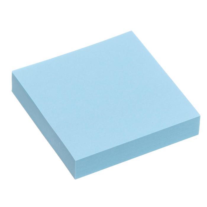 Блок с липким краем 51мм*51мм 100л пастель голубой