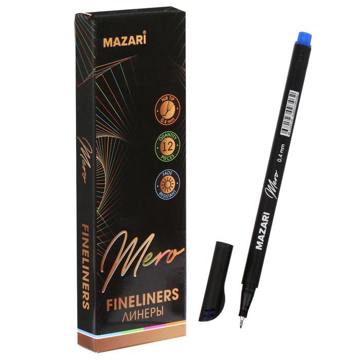 Ручка капилярная Mazari Mero, 0.4 мм, синяя