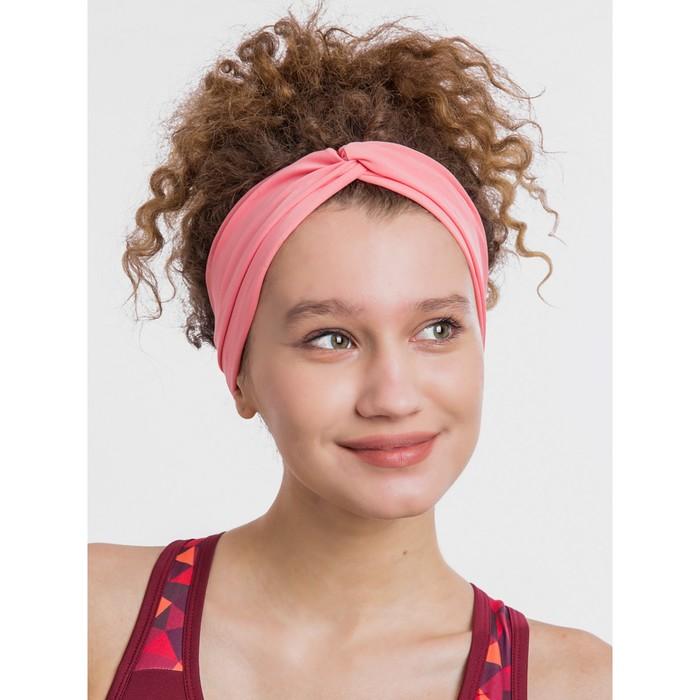 Повязка на голову, цвет розовый персик, размер 56