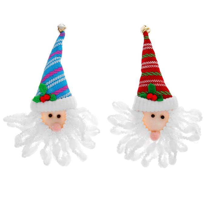 Значок световой «Дед Мороз с бородой», цвета МИКС
