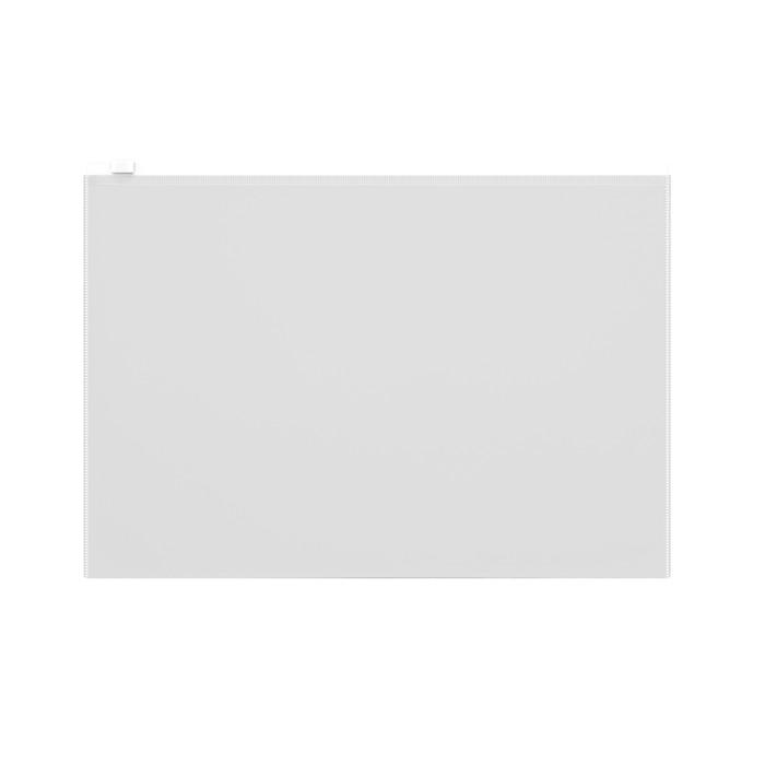 Папка-конверт на гибкой молнии ZIP, А4, ErichKrause Fizzy Clear, прозрачная
