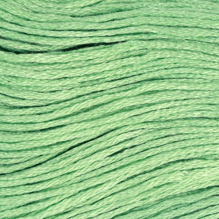 Нитки мулине, 8 ± 1 м, цвет светло-зелёный №563
