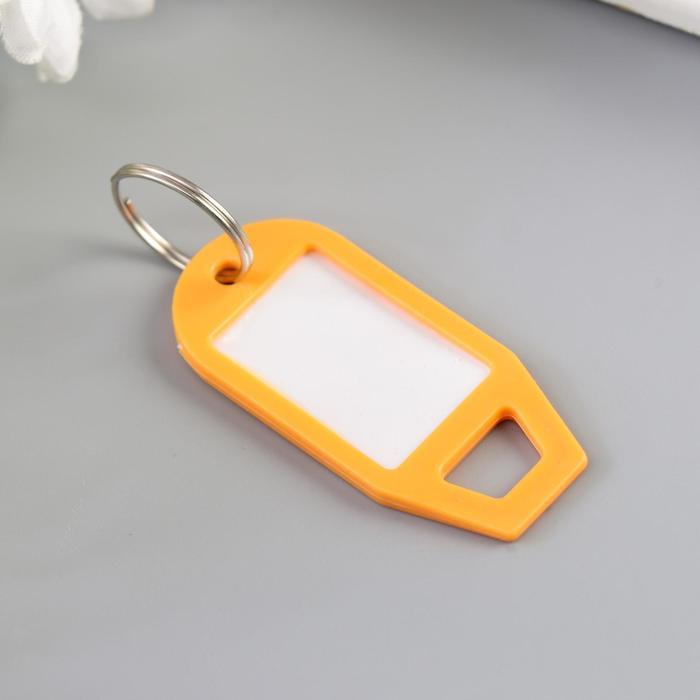 Идентификатор для ключей на кольце пластик МИКС 5х2,3х0,3 см