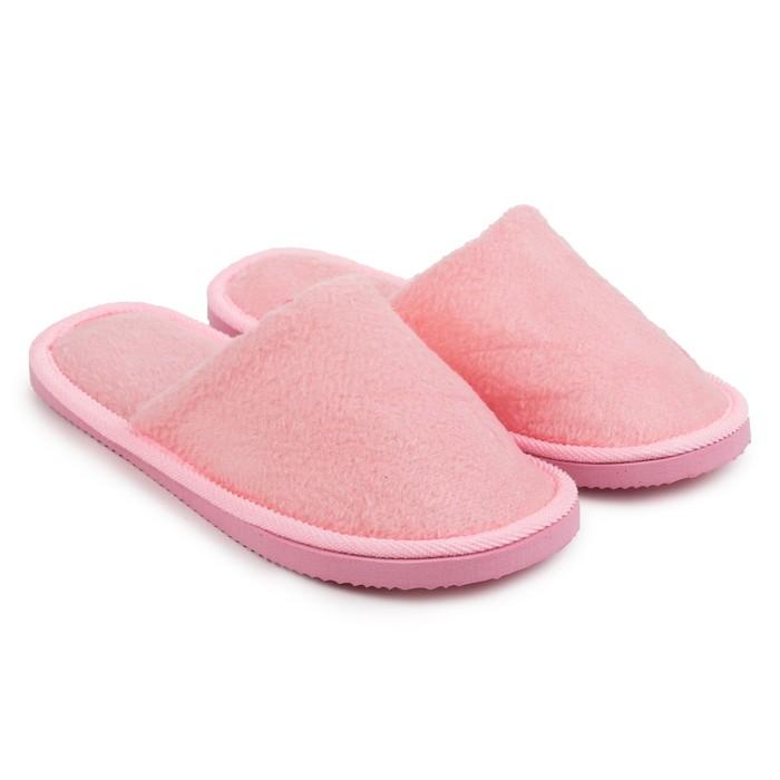 Тапочки женские цвет розовый размер 37
