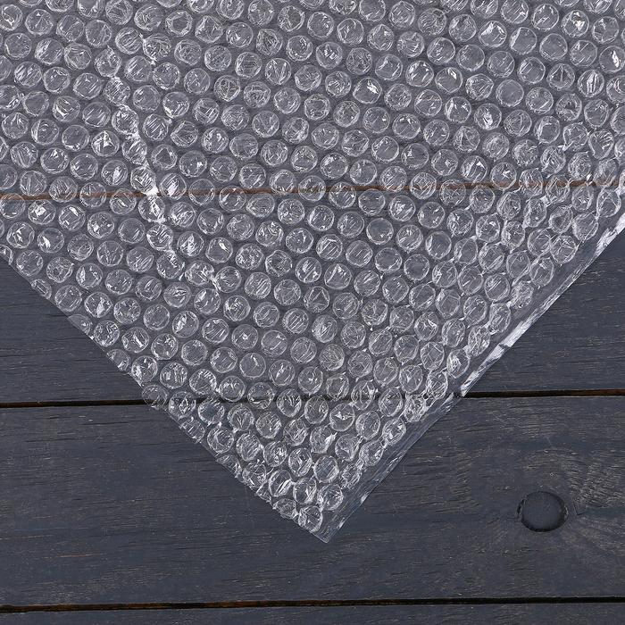 Плёнка воздушно-пузырьковая, толщина 40 мкм, 0,5 ? 5 м, двухслойная, Greengo