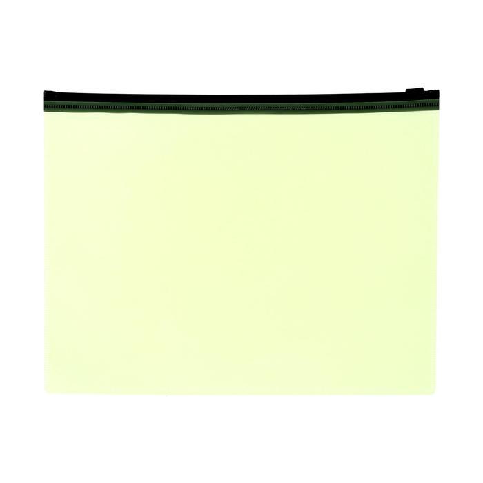 Папка-конверт на молнии ZIP А5 150мкм Calligrata желтый неон