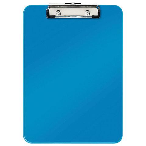 "Доска-планшет LEITZ ""WOW"", с верхним прижимом, A4, 320х228 мм, пластик, 1,7 мм, синяя, 39710036"