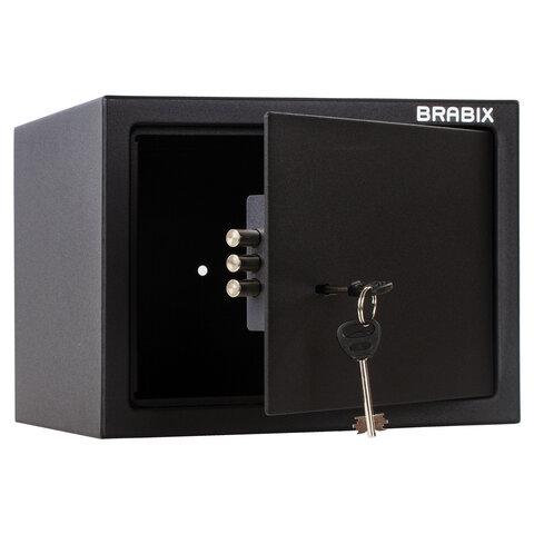"""Сейф мебельный BRABIX """"SF-230KL"""", 230х310х250 мм, ключевой замок, черный, 291146, S103BR211514"""