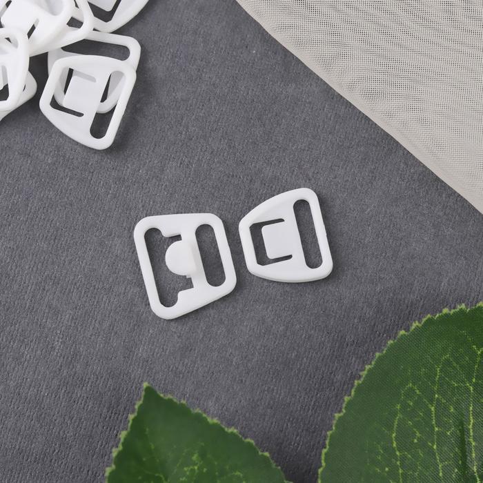 Застёжка для бюстгальтера для кормящих мам, пластиковая, 12/14 мм, 10 шт, цвет белый