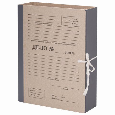 """Папка архивная для переплета """"Форма 21"""" 80 мм, с механизмом для скоросшивания, завязки, STAFF, 112170"""