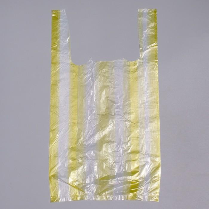 """Пакет """"4 цвета"""", полиэтиленовый майка, 25 х 45 см, 8 мкм, МИКС"""